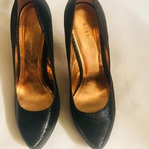 BCBG Generation Deep Green Leather Heels size 8.5